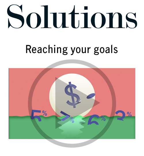 Solutions video. Reaching your goals. Click to play video.