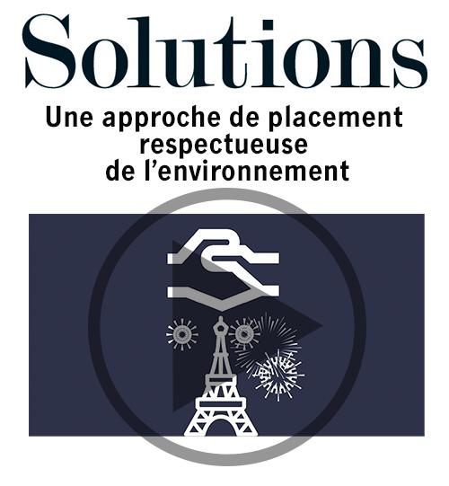 Vidéo Solutions. Une approche de placement respectueuse de l'environnement. Cliquer pour regarder la video.