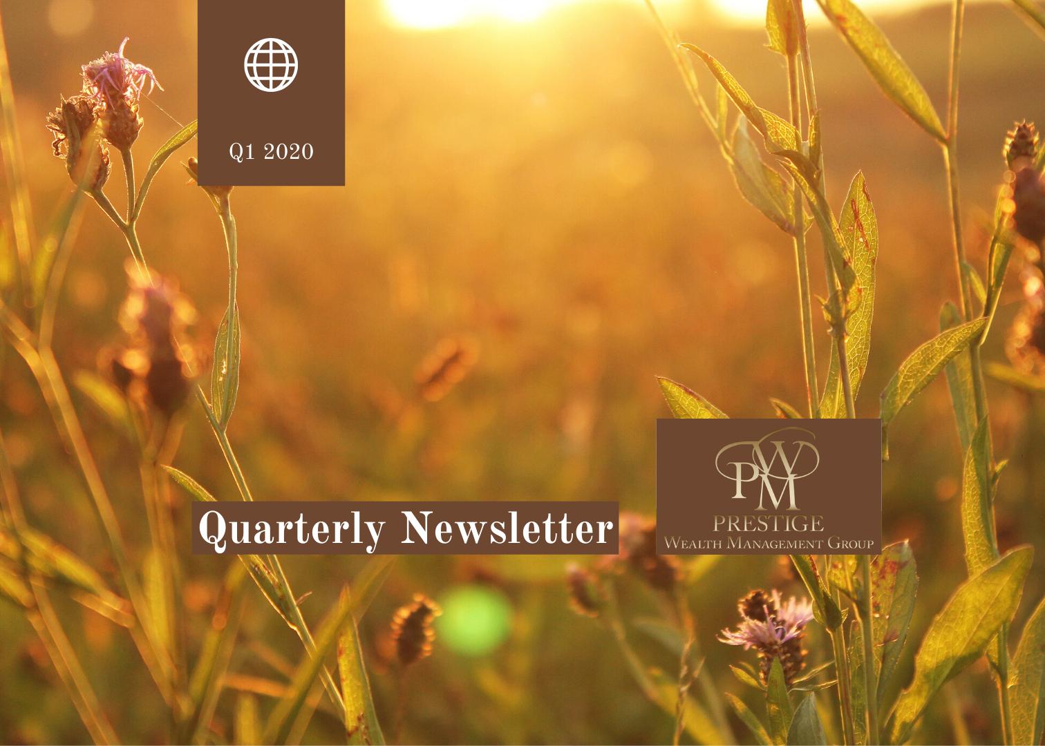 Newsletter - 1st Quarter 2020 Thumbnail