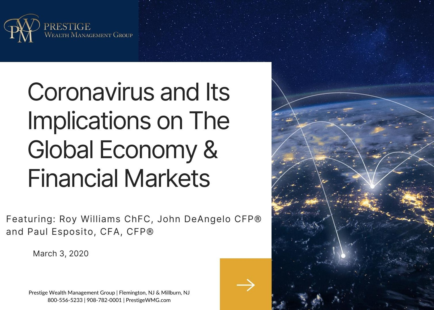 Webcast - The Coronavirus and Its Implications on The Global Economy and Financial Markets Thumbnail