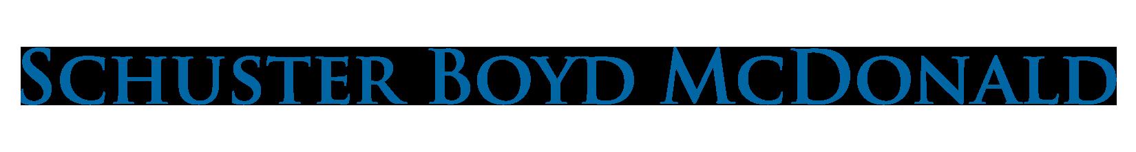 SCHUSTER BOYD McDONALD