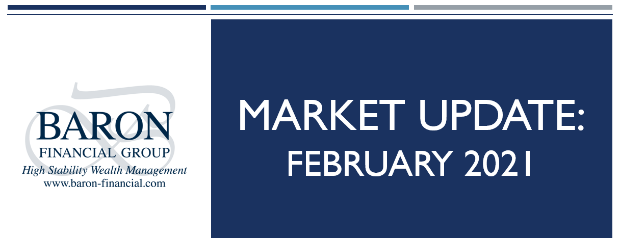 Video: Baron Financial Group Market Update for February 2021 Thumbnail
