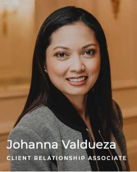 Johanna Valdueza - Client relationship associate