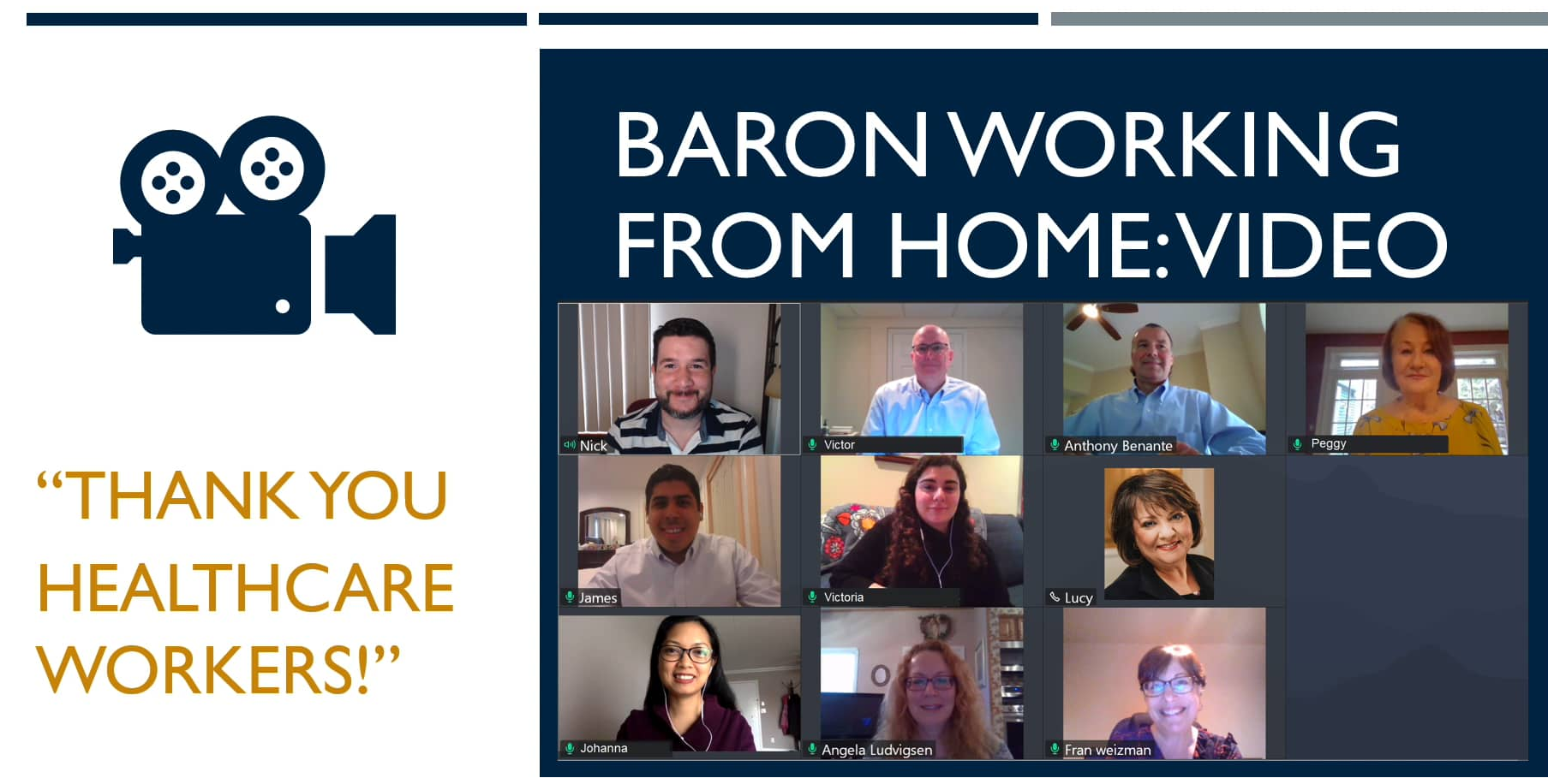 Baron Working from Home Video - Thank You Healthcare Workers! Thumbnail