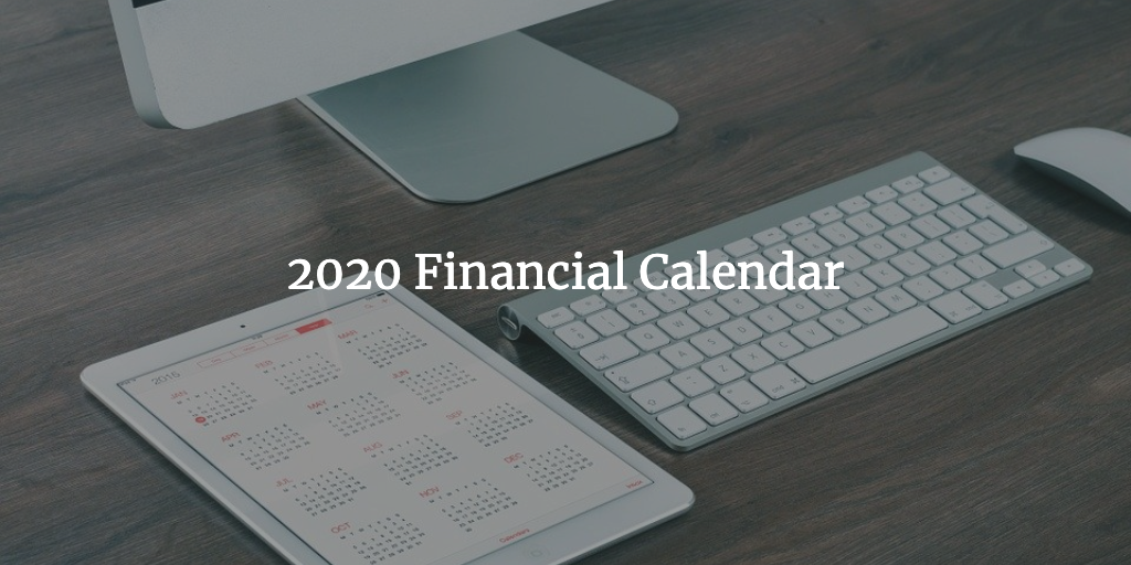 Financial Calendar 2020 Thumbnail
