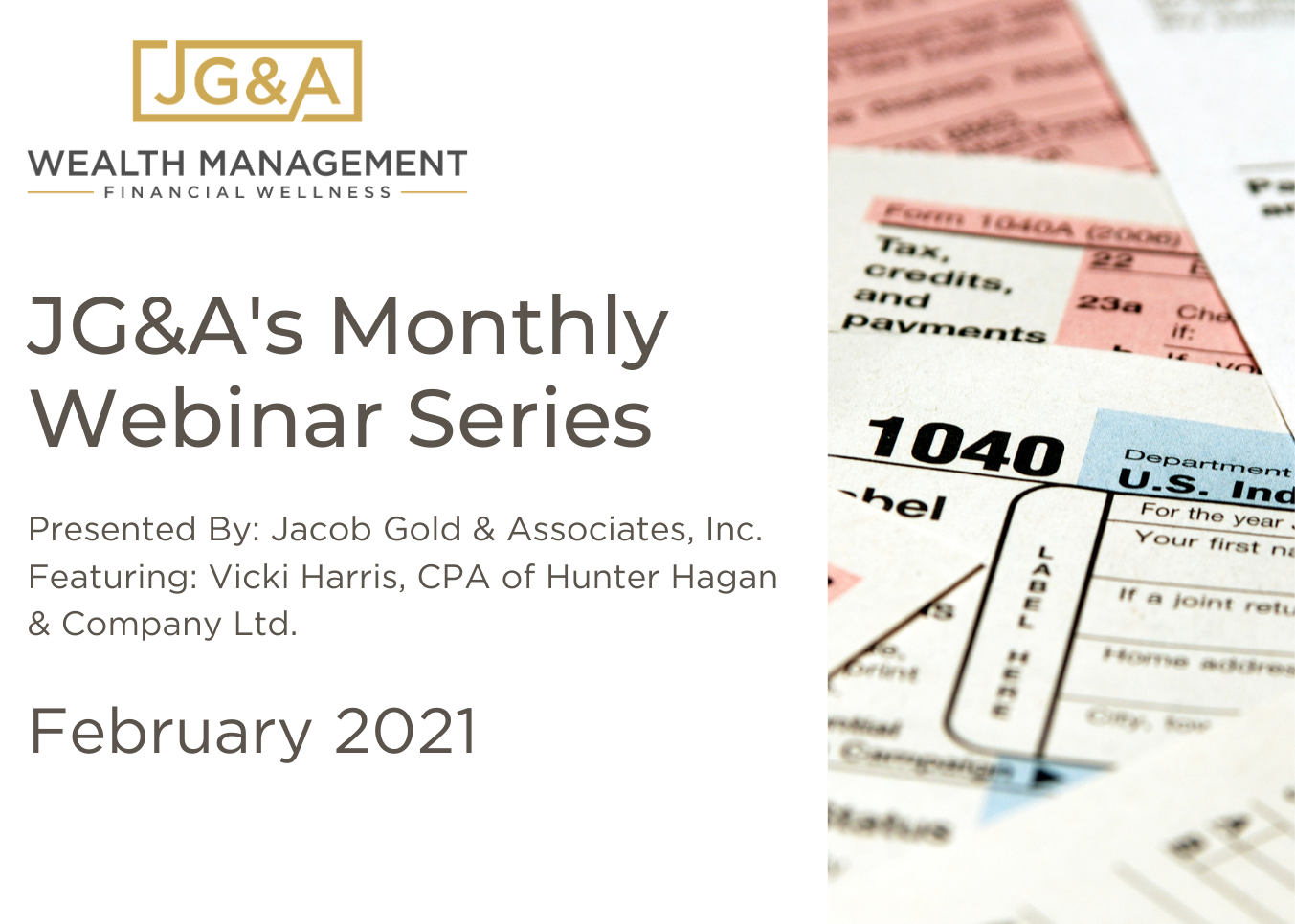 February's Monthly Webinar Series: Preparing for the 2020 Tax Season  Thumbnail