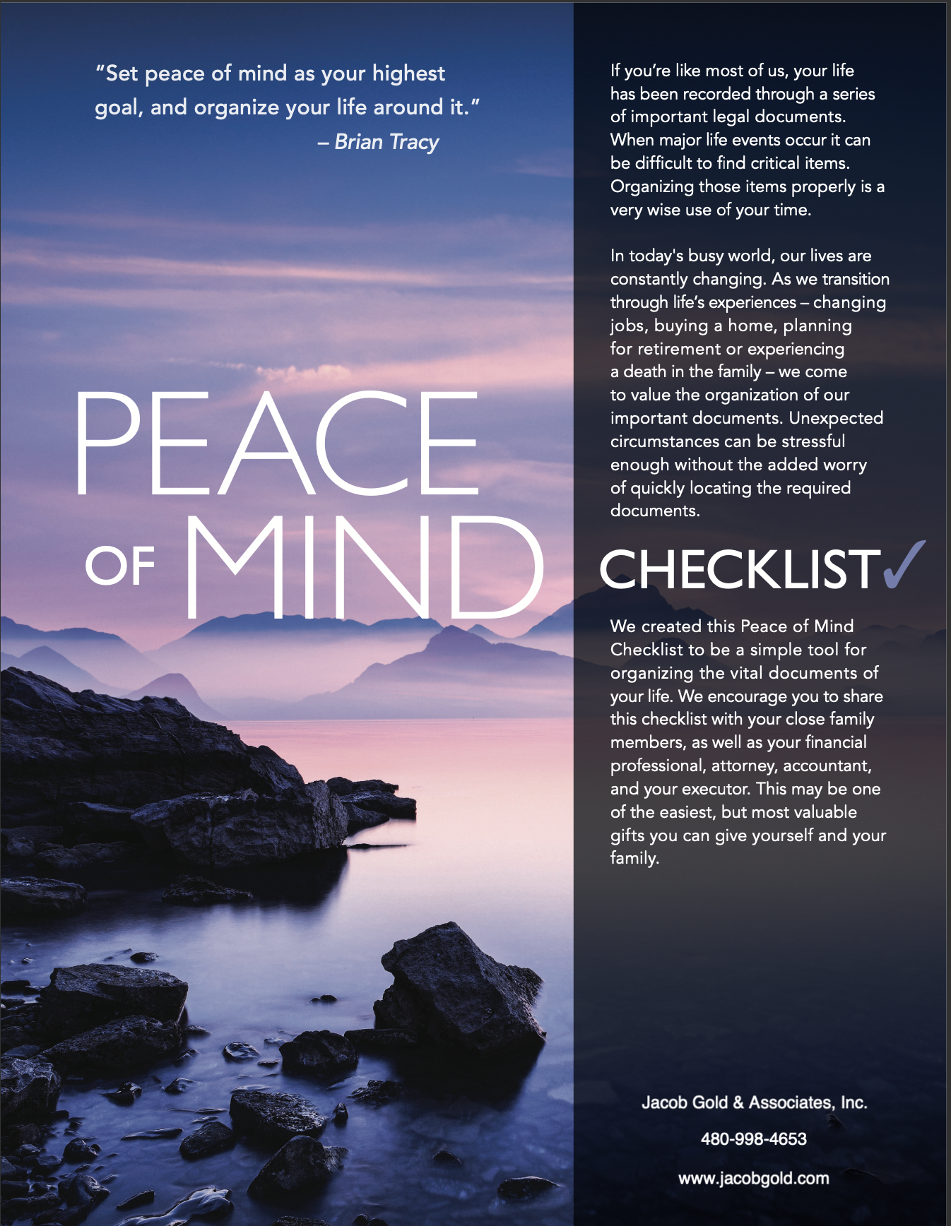 Peace of Mind Checklist  Thumbnail