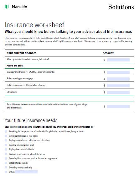 Image of insurance checklist
