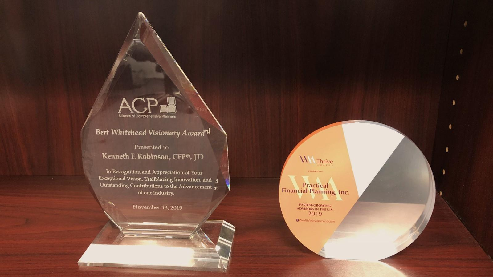 Ken Robinson and Practical Financial Planning Receive Awards Thumbnail