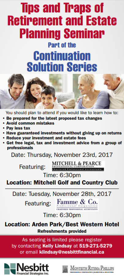 Tips and Traps of Retirement and Estate Planning Seminar Thumbnail