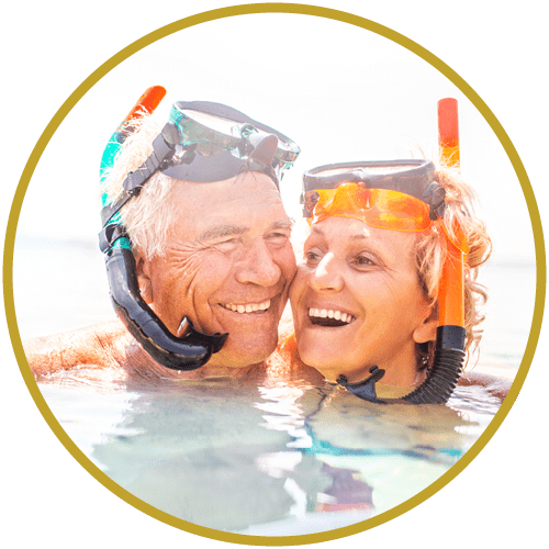 Man and Woman Snorkling