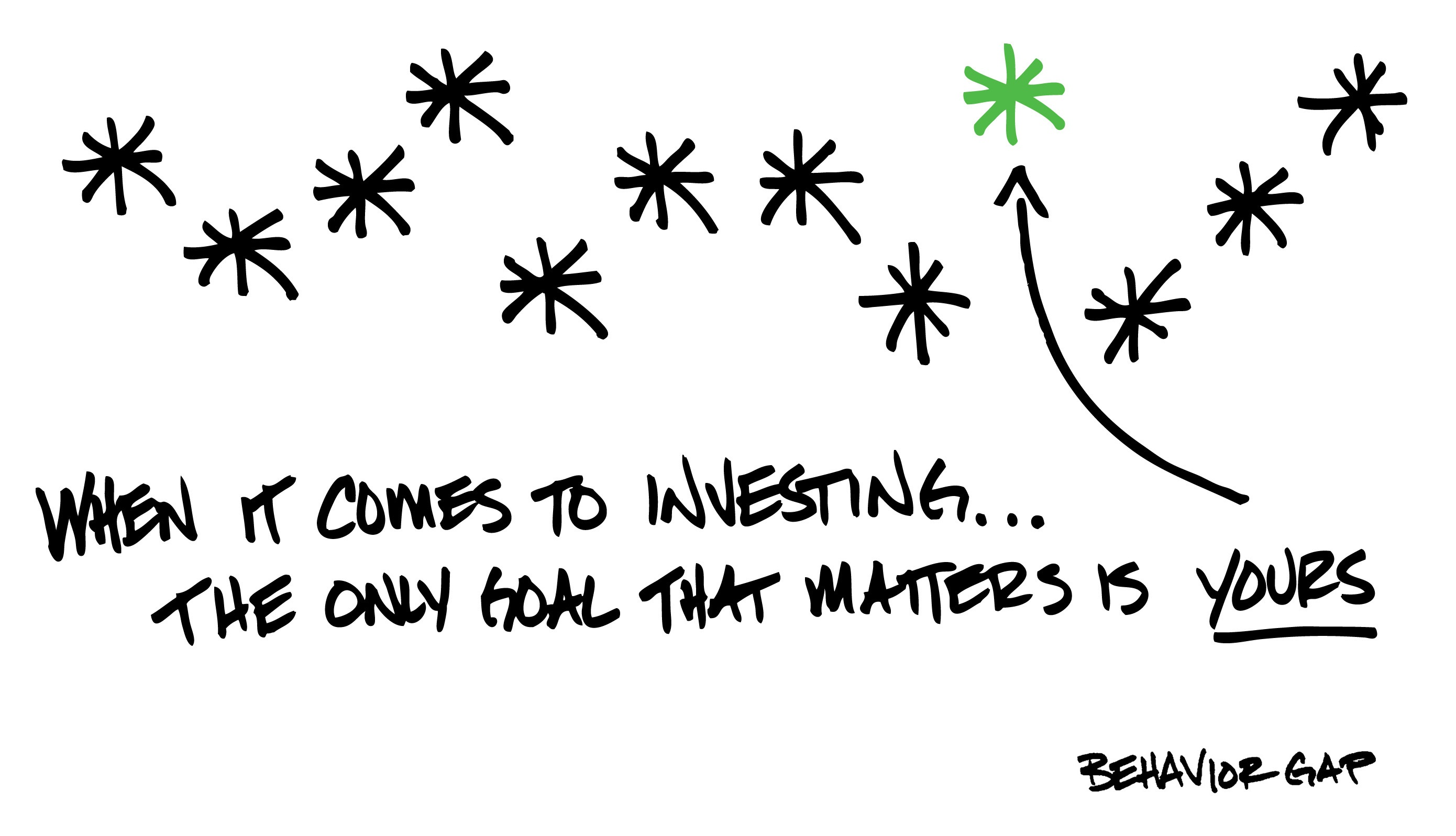 When it comes to investing...The only goal that matters is YOURS!