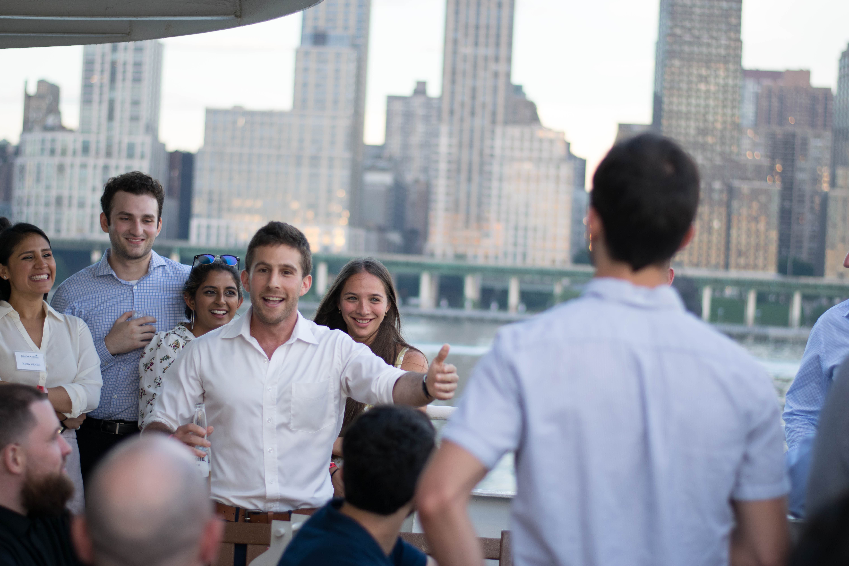 Gideon Drucker, CFP AIF ECA speaking to young professionals in NYC