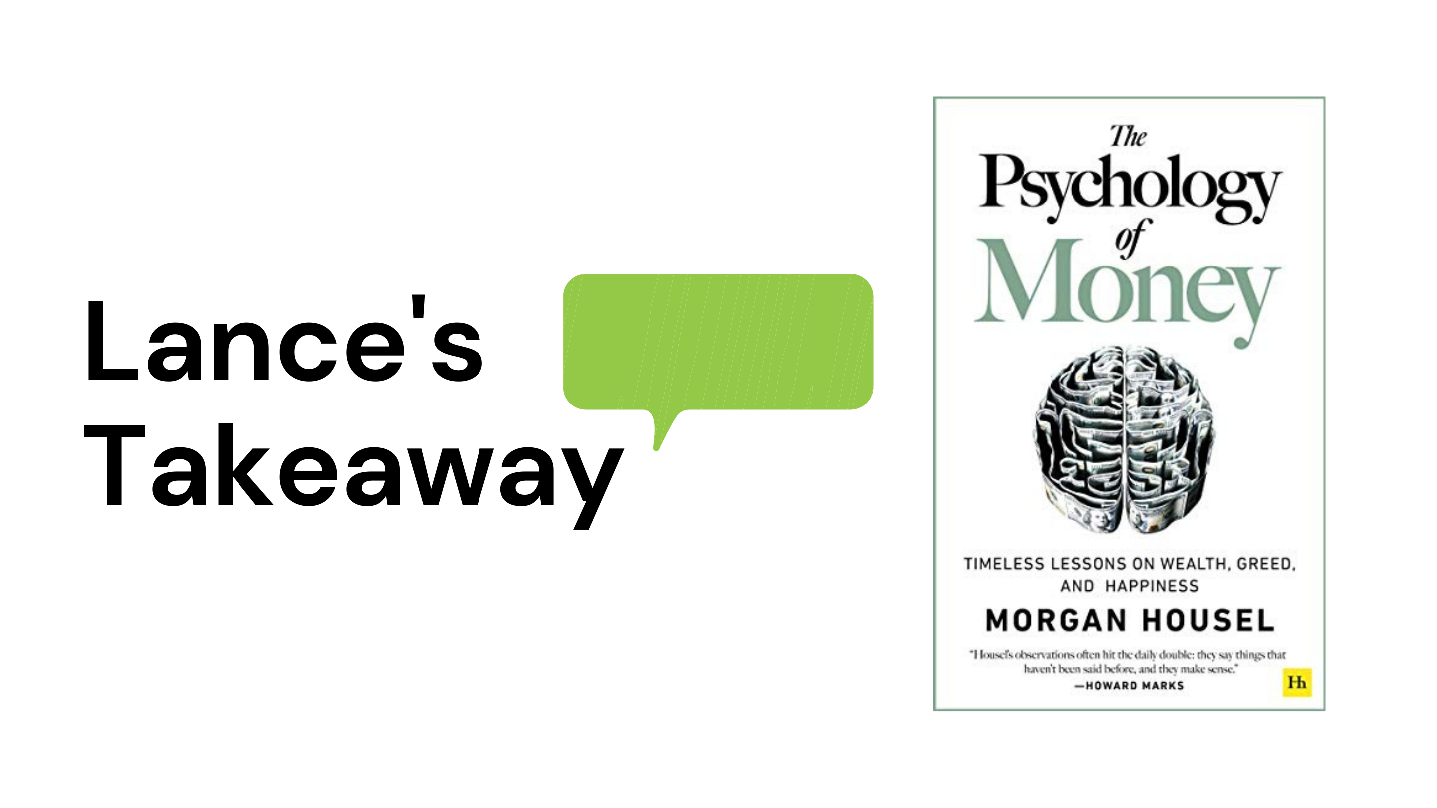 Lance's Takeaway from 'The Psychology of Money' by Morgan Housel Thumbnail