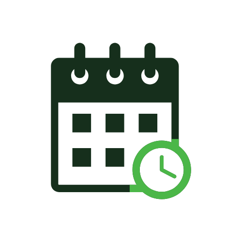 Retirement date on calendar icon