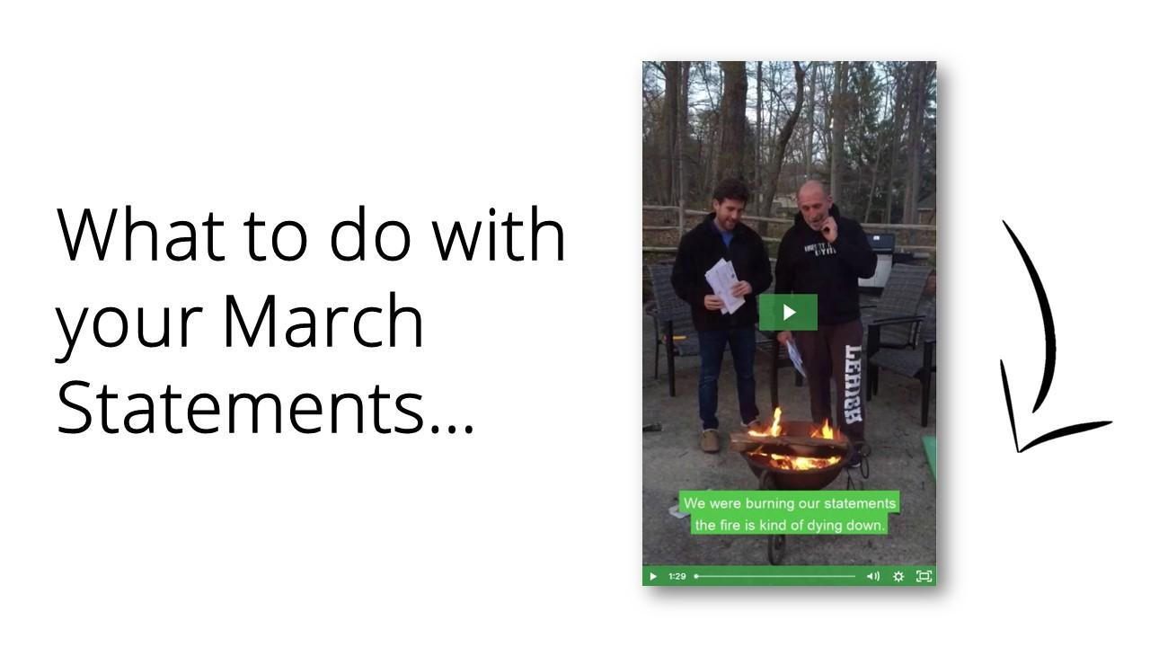 What To Do With Your March Statements Thumbnail