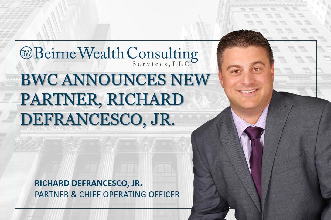 Beirne Wealth Consulting Services, LLC Announces New Partner, Richard DeFrancesco, Jr. Thumbnail