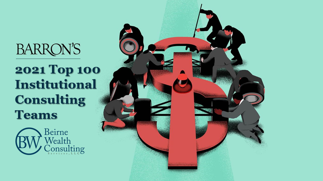 """BWC Selected by Barron's in its 2021 """"Top 100 Institutional Consulting Teams"""" Ranking Thumbnail"""
