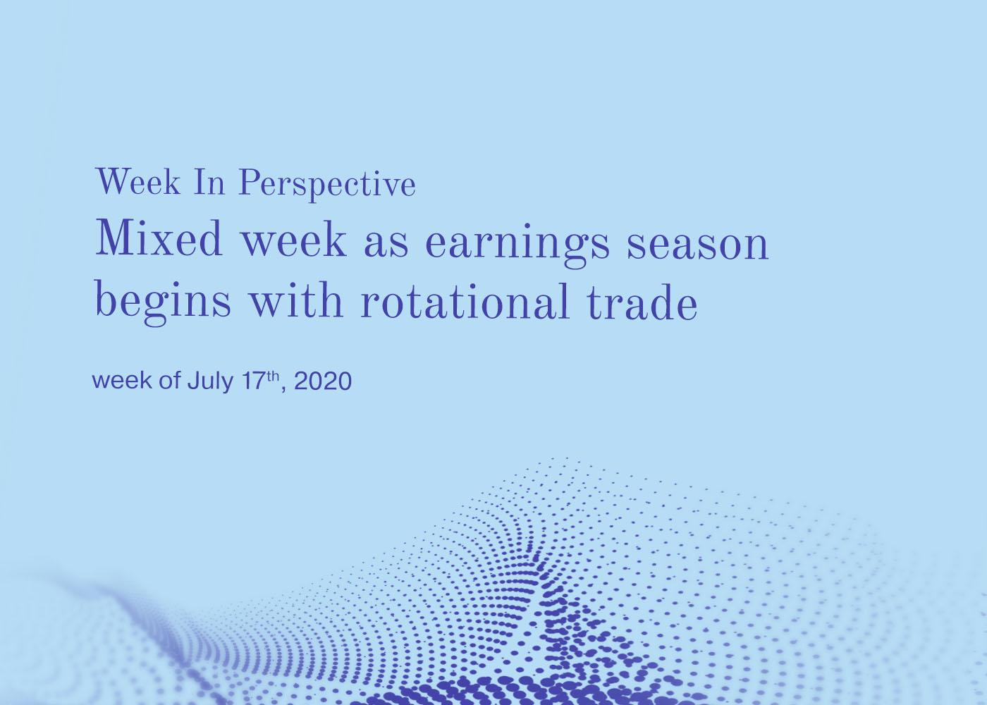 Week In Perspective July 17, 2020: Mixed week as earnings season begins with rotational trade Thumbnail