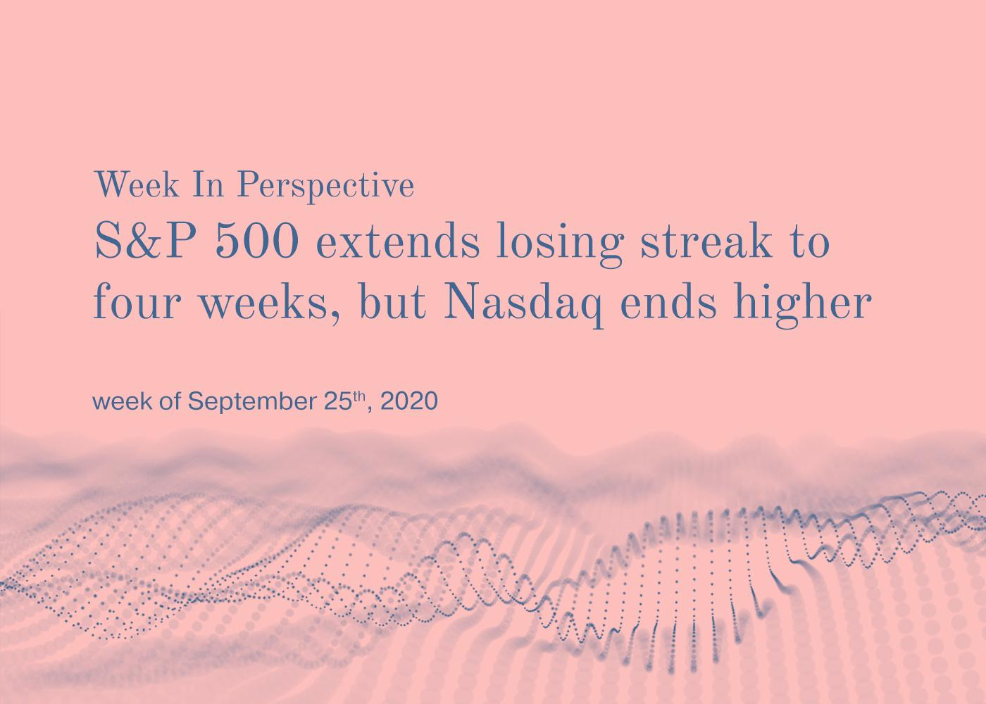 Week In Perspective September 25, 2020:  S&P 500 extends losing Streak but NASDAQ shows gains Thumbnail