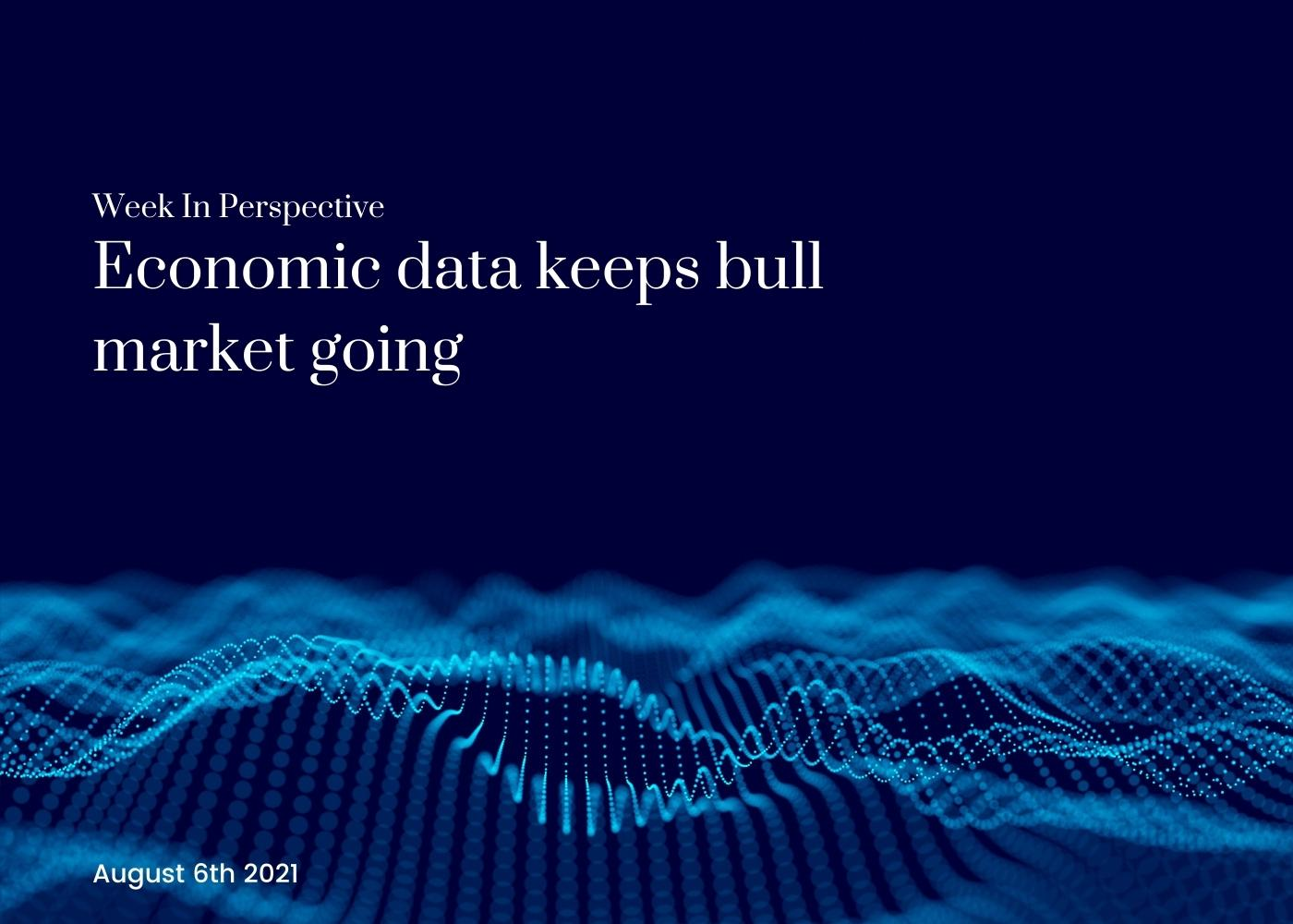 Week In Perspective August 6, 2021: Economic data keeps bull market going Thumbnail