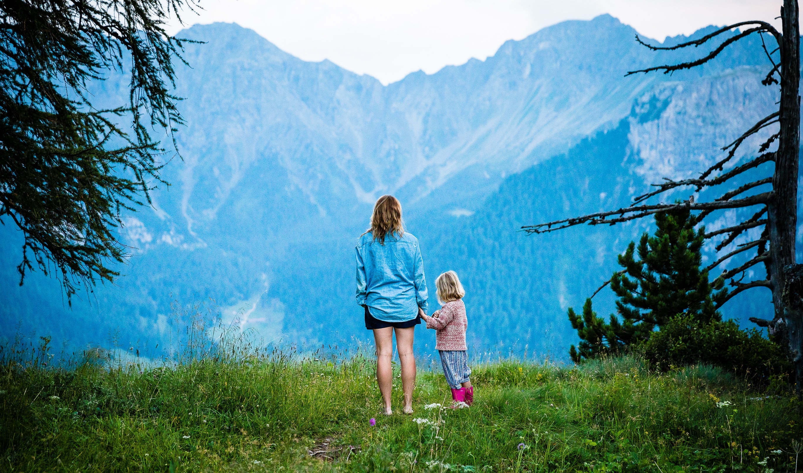 phot of mother and daughter hiking