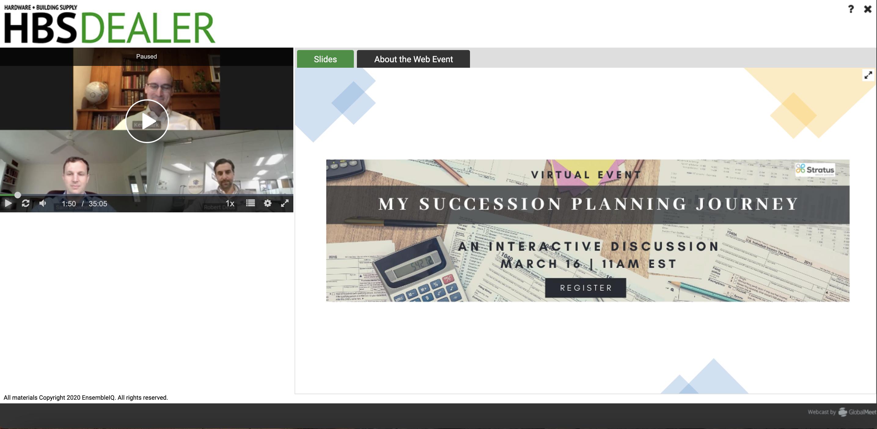 HBSDealer Webinar: My Succession Planning Journey