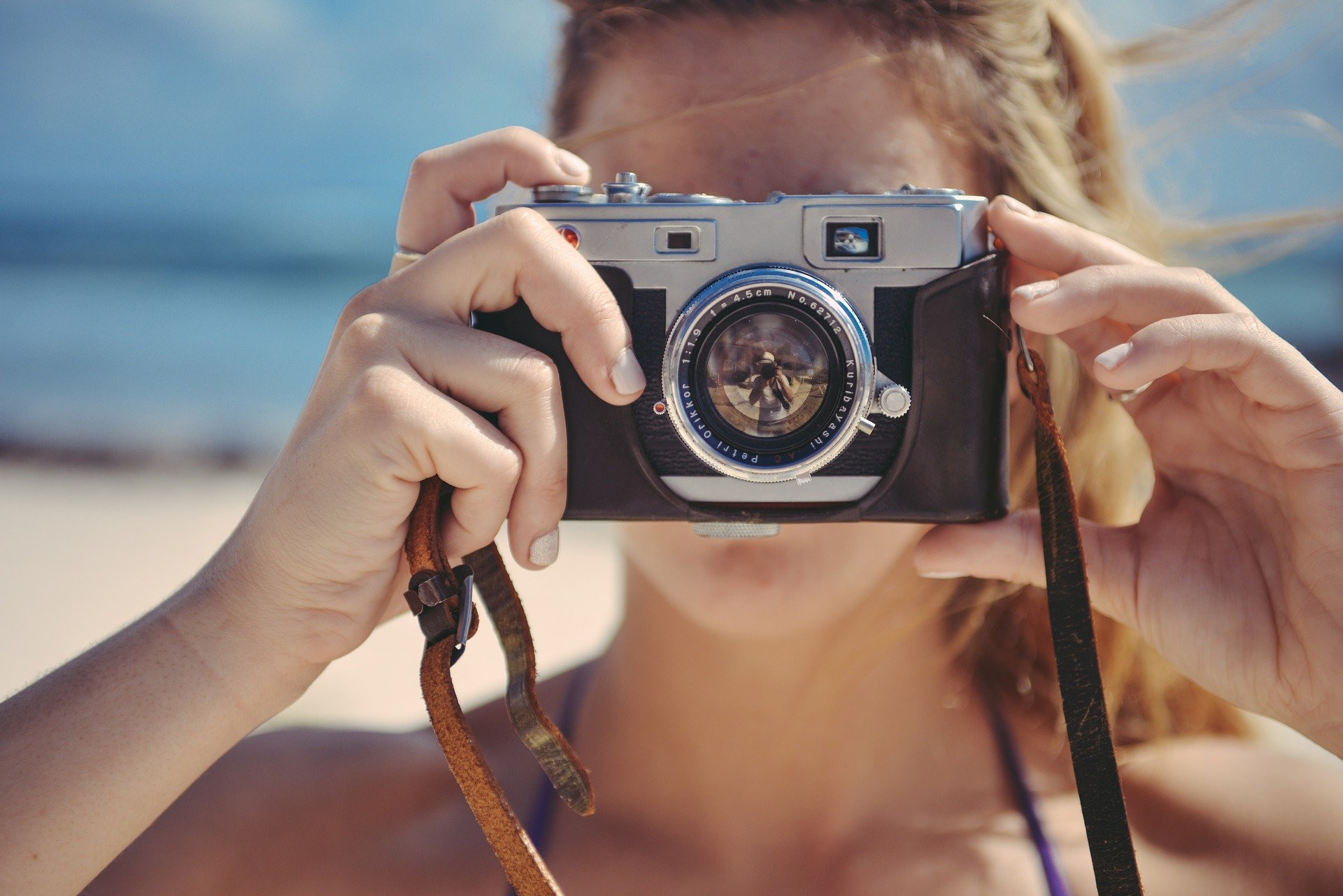 image of girl taking a picture