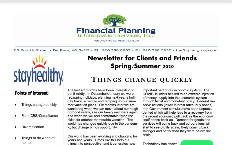 FPIS, Inc. Spring / Summer 2020 Newsletter Thumbnail