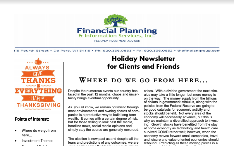 FPIS, Inc. Holiday Newsletter 2020 Thumbnail
