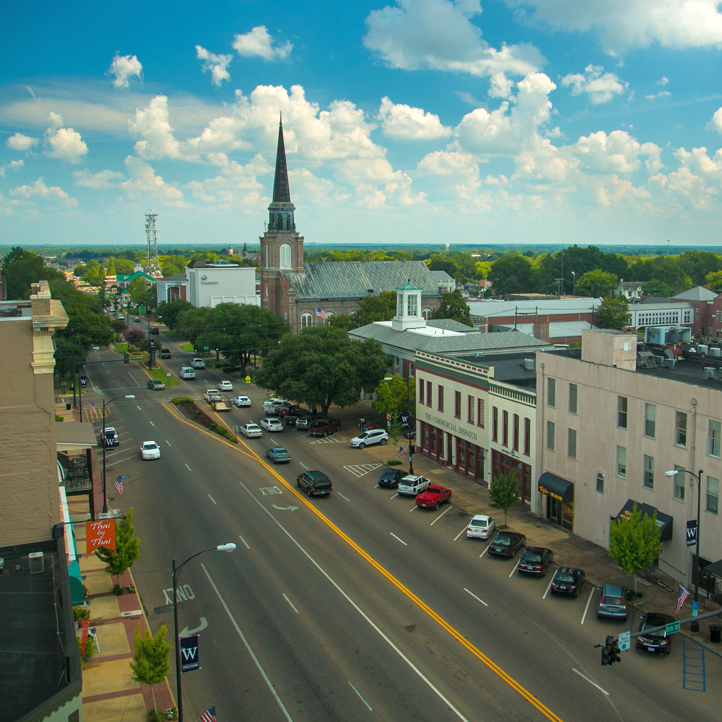 Street in Columbus MS