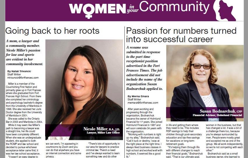 Women in Your Community - Susan Bodnarchuk Thumbnail
