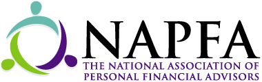 NAPFA logo in black, purple, blue, and green