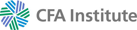 CFA Institute logo in blue, green, purpose, and grey