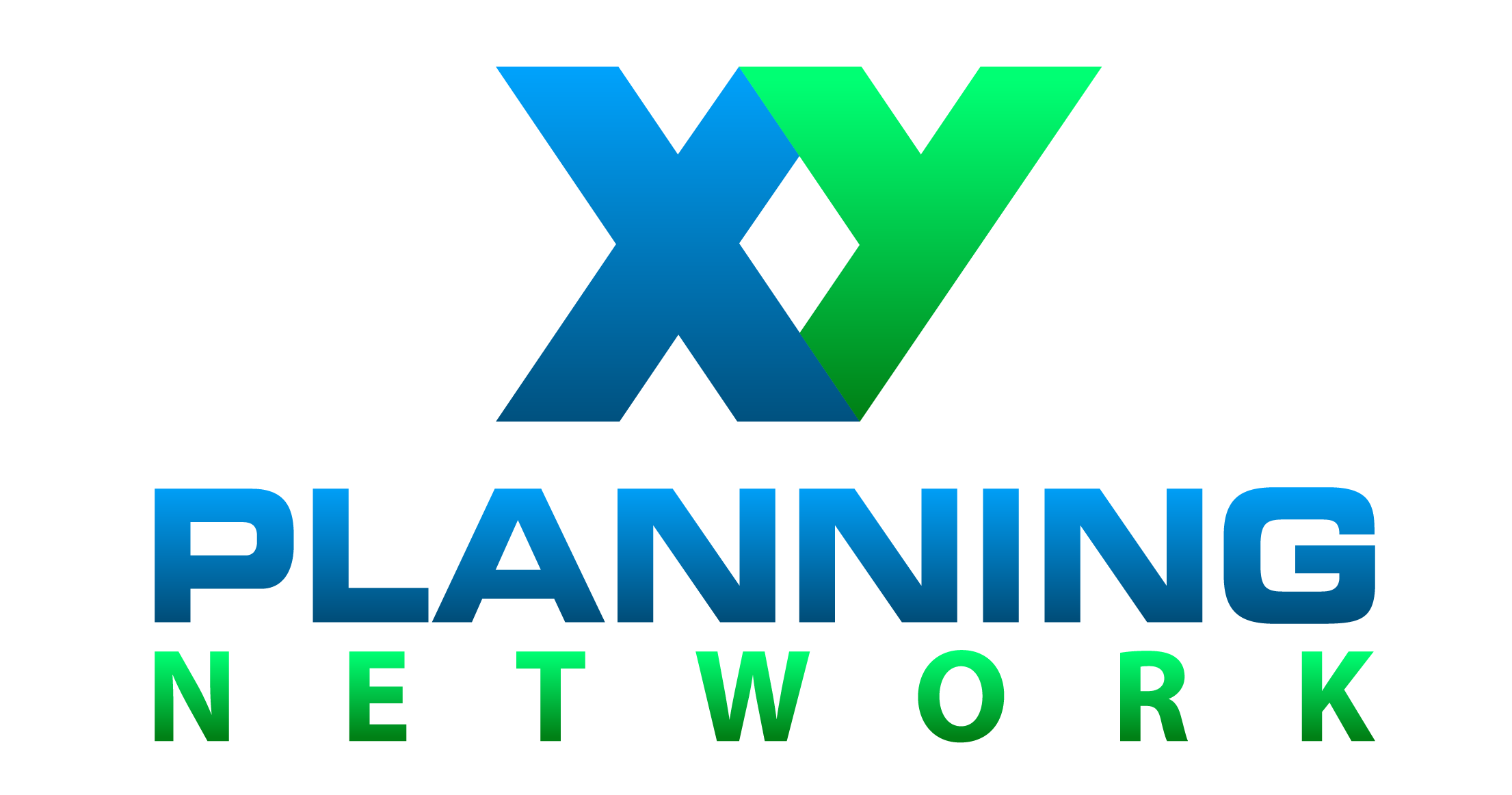 XY Planning Network logo in green and blue