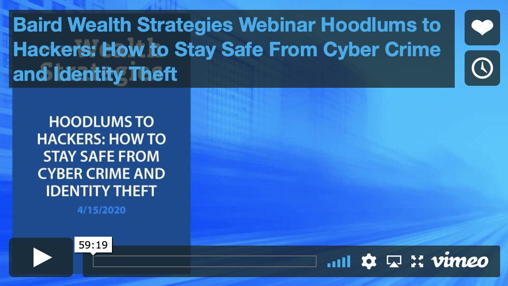 Hoodlums to Hackers: How to Stay Safe From Cyber Crime and Identity Theft Thumbnail