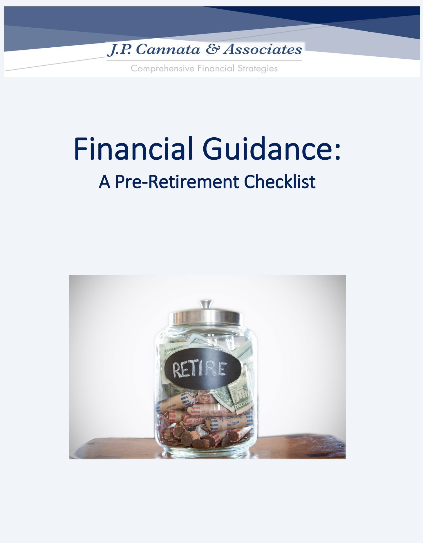 Financial Guidance - A Pre-Retirement Checklist