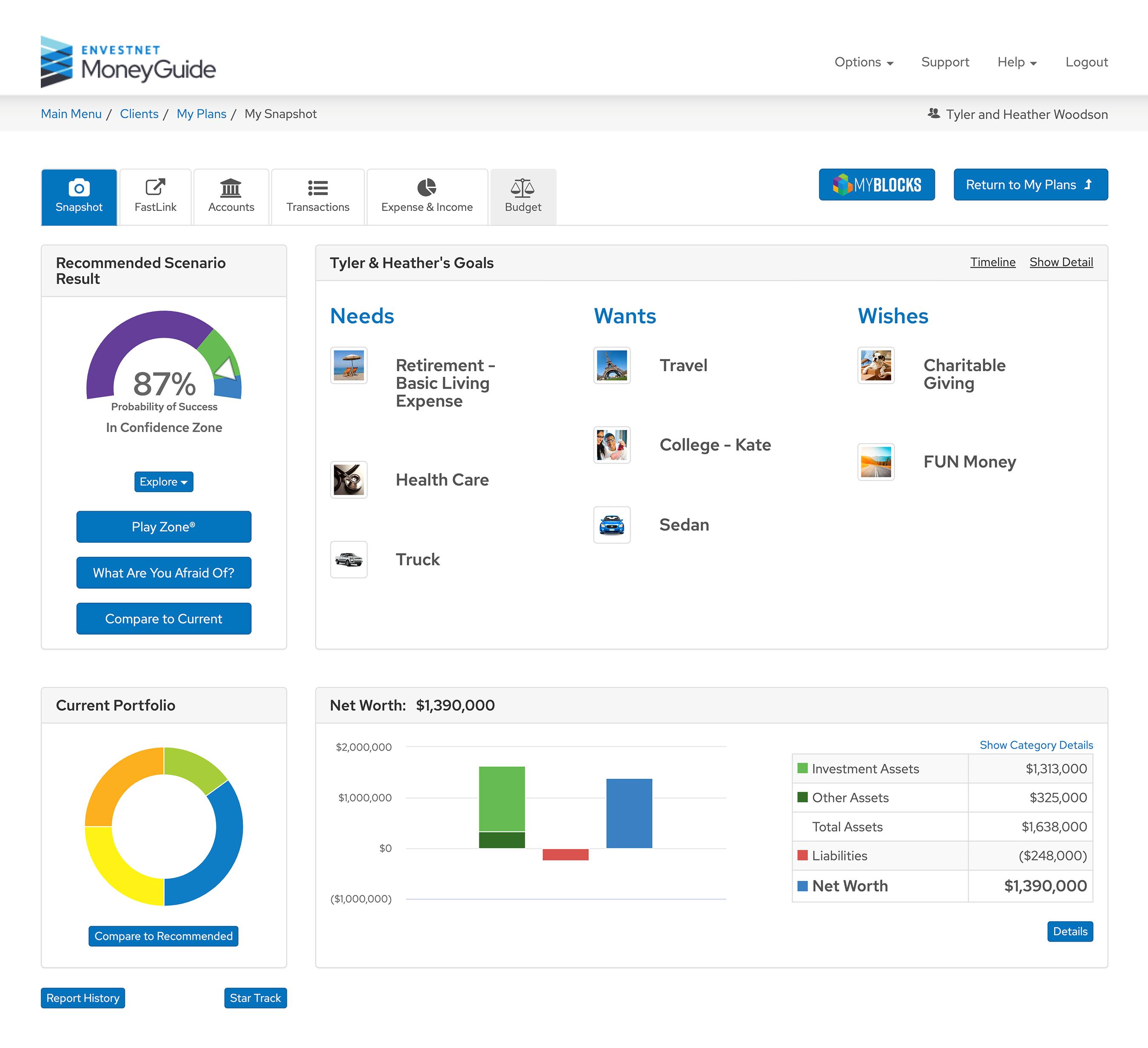 MoneyGuide interactive planning tool Thumbnail