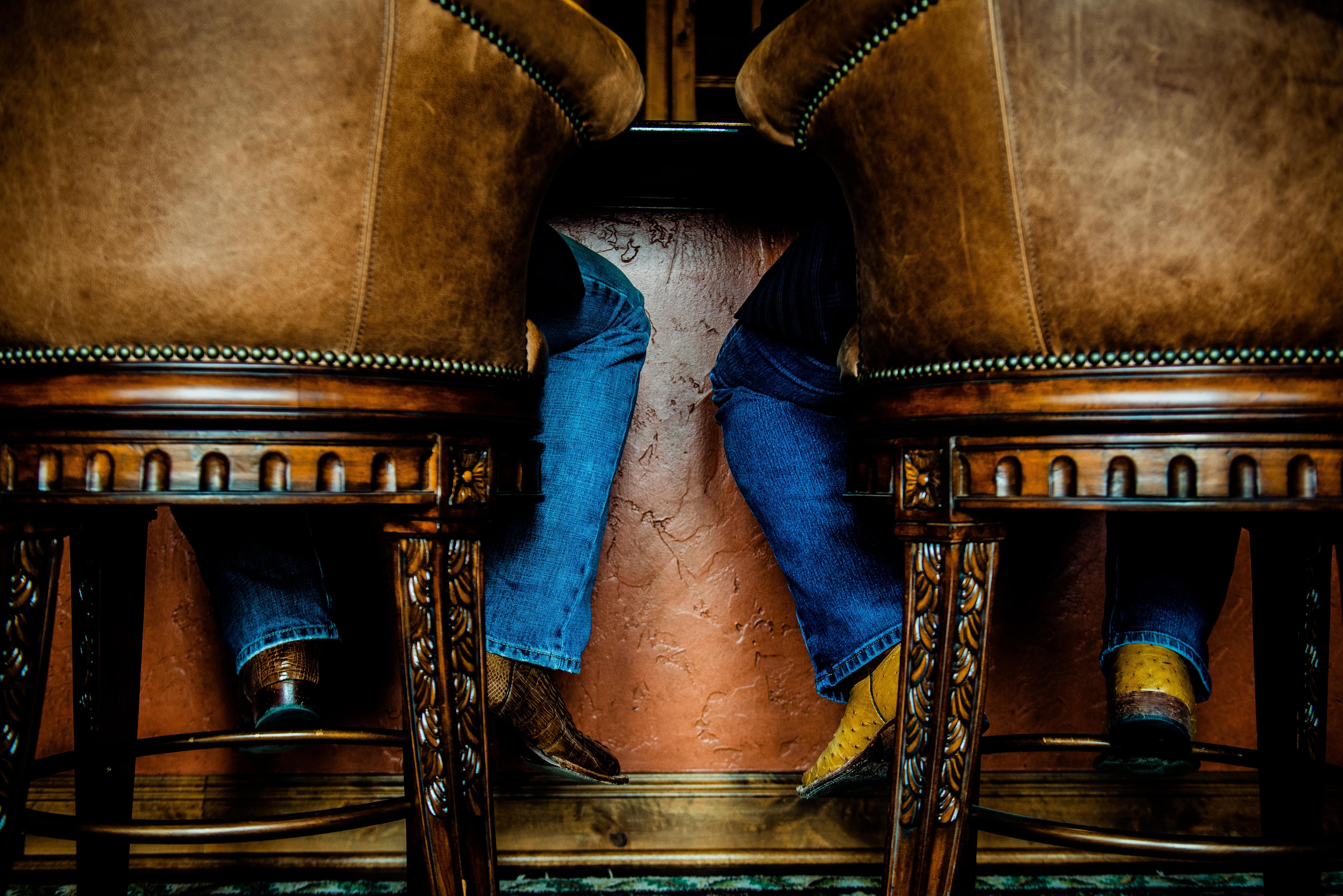 Men sitting at a bar