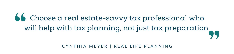 Choose a real estate savvy CPA