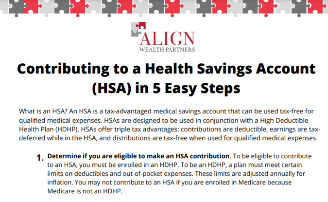 Contributing to a Health Savings Account (HSA) in 5 Easy Steps Thumbnail