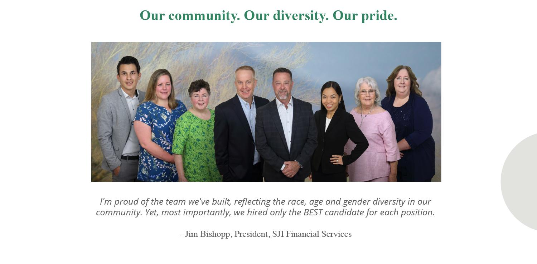 SJI's diverse team