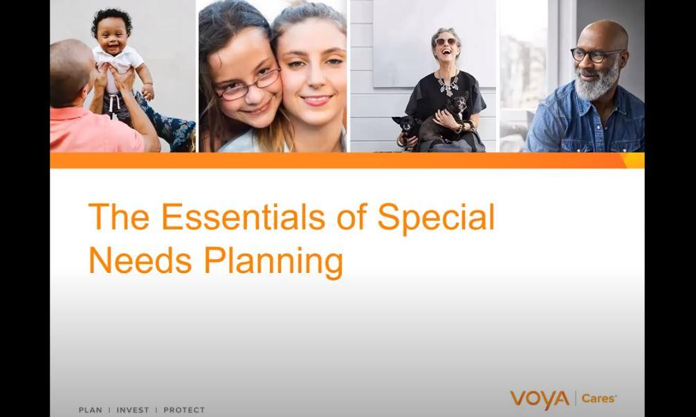The Essentials of Special Need Planning Webinar Thumbnail