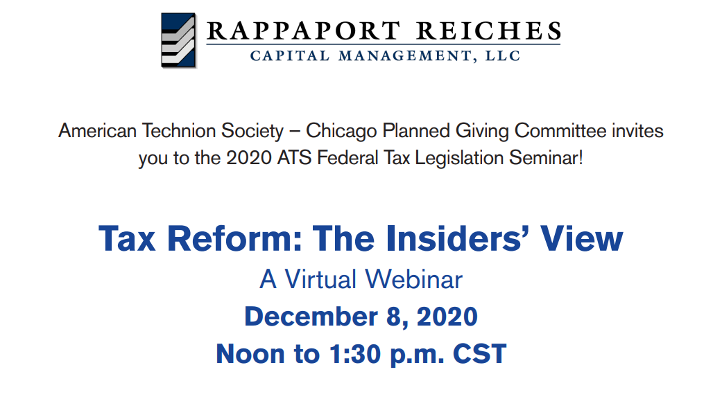 """Join us at """"Tax Reform: The Insider's View"""" Webinar on Dec. 8th Thumbnail"""