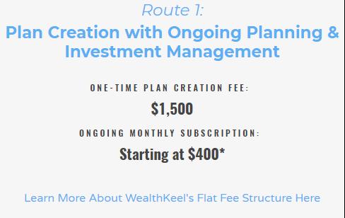 WealthKeel alternative billing methods for advisors