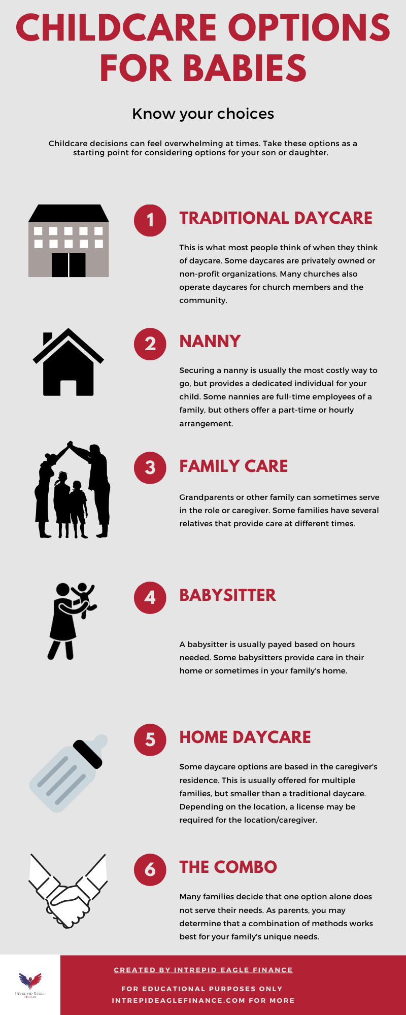Childcare for babies infographic