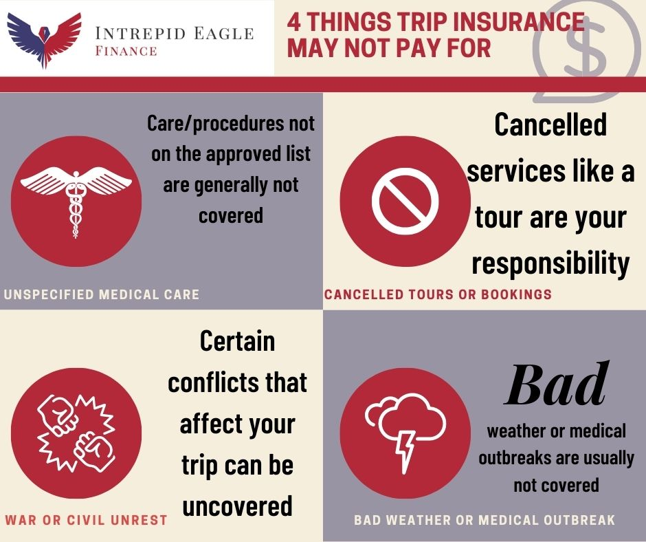 What does trip insurance not cover?