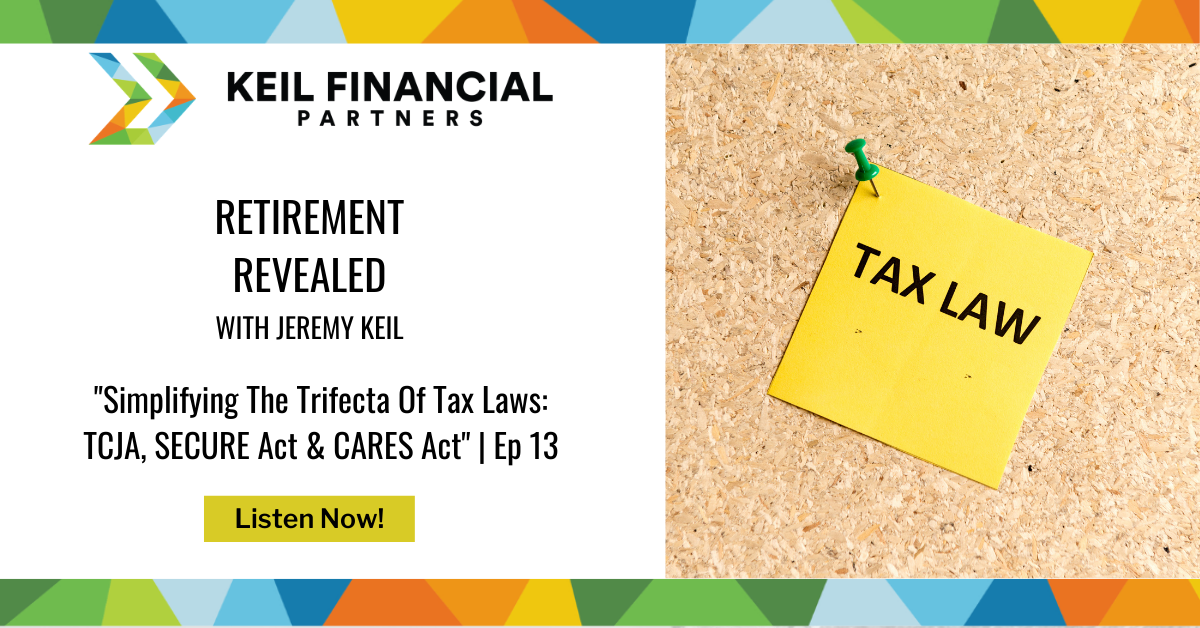 Simplifying The Trifecta Of Tax Laws: TCJA, SECURE Act & CARES Act | Podcast Thumbnail