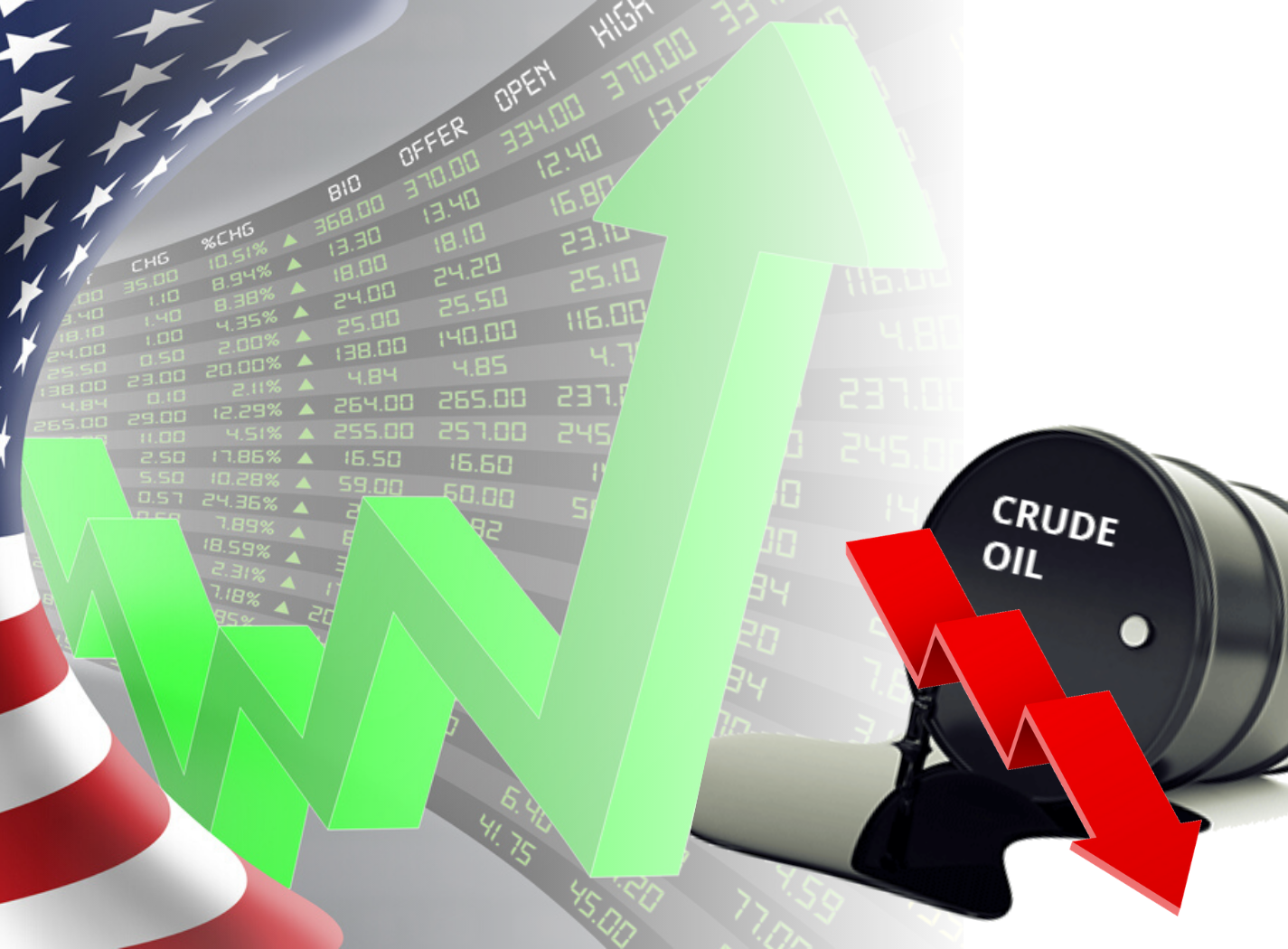 Second consecutive week of gains - But oil is tanking Thumbnail