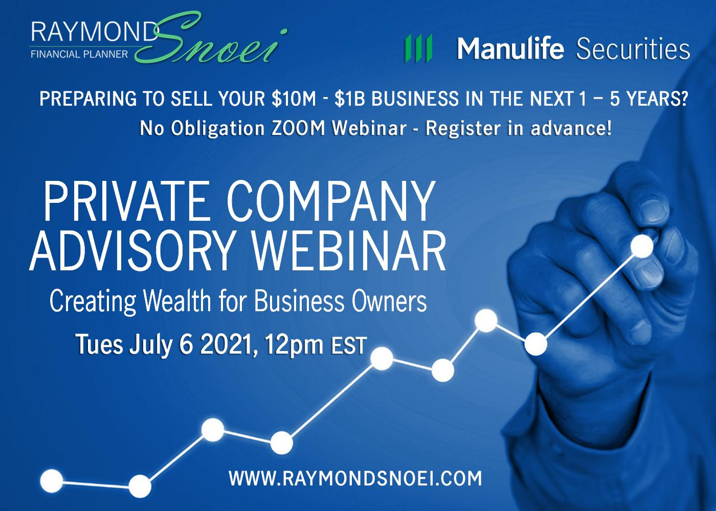 Private Company Advisory - Creating Wealth for Business Owners (webinar) Thumbnail